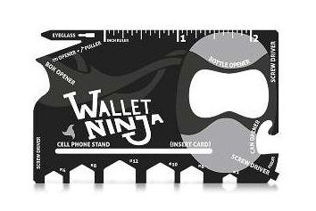Wallet Ninja 18-in-1 Flat Multi-Tool - Cool Survival Gadgets #7